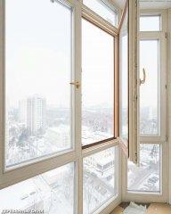 Французский балкон из дерева