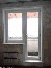Балконный блок из лиственницы под ключ