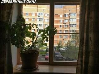 Недорогое деревянное окно