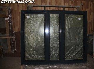 Окно из лиственницы с алюминиевым окладом