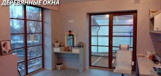 Красивые деревянные окна в доме